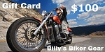 $100 Gift Card - Billys Biker Gear