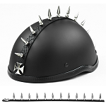 Chopper Cross Motorcycle Helmet Spike Strip Mohawk