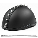 Skull Crossbones Motorcycle Helmet Spike Strip Mohawk