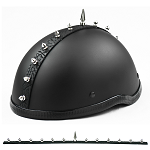 Short Motorcycle Helmet Spike Strip Mohawk