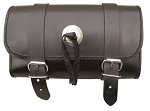 Leather Motorcycle Tool Bag with Silver Conchos