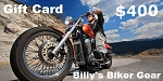 $400 Gift Card - Billys Biker Gear