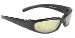 Rally Wrap Sunglasses Foam Padded Yellow Mirror Lens