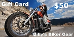 $50 Gift Card - Billys Biker Gear