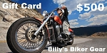 $500 Gift Card - Billys Biker Gear