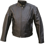 Men's Vented Leather Riding Jacket