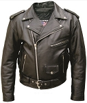 Big Men's Classic Leather Motorcycle Jacket Best Seller
