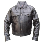 Men's Denim Style Leather Jacket