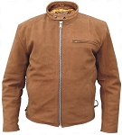 Men's Brown Leather Scooter Jacket