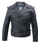Big Men's Leather Motorcycle Jacket