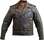 Men's Rustic Brown Leather Motorcycle Jacket