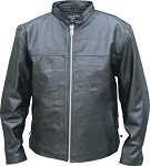 Men's Lightweight Leather Motorcycle Jacket/Shirt