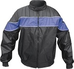 Mens Blue & Black Water Resistant Jacket