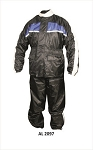 Men's Blue & Black Motorcycle Rain Suit