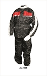 Men's Red & Black Motorcycle Rain Suit
