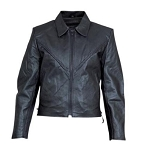 Ladies Braided Leather Motorcycle Jacket