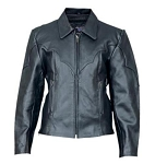 Ladies Western Style Leather Jacket
