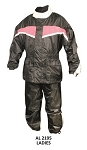 Ladies Pink & Black Motorcycle Rain Suit (COPY)