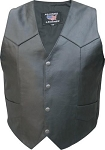 Men's Tall Basic Leather Motorcycle Vest