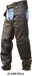 Tall Plain Leather Motorcycle Chaps