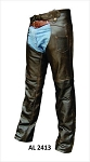 Retro Brown Leather Motorcycle Chaps