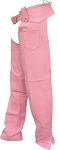 Women's Pink Leather Motorcycle Chaps