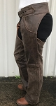 Rustic Brown Leather Motorcycle Chaps