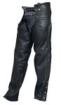 Premium Plain Lined Leather Biker Chaps