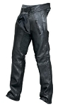 Leather Biker Chaps with Elastic Waist