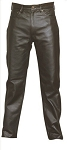 Mens Plain Leather Pants with 5 Pockets