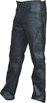 Mens 5 Pocket Side Laced Leather Pants