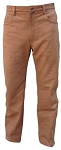 Mens 5 Pocket Brown Leather Pants