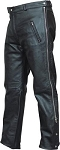 Mens Leather Pants with Side Zipper
