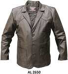 Men's Western Style Leather Blazer