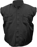 Men's Black Sleeveless Shirt