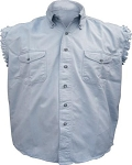 Men's Light Blue Sleeveless Shirt