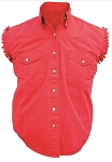 Men's Red Sleeveless Shirt