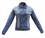 Ladies Rub Off Blue Denim Jacket