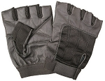 Leather Fingerless Gloves with Spandex