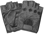 Premium Vented Fingerless Leather Gloves