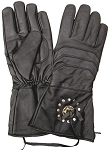 Motorcycle Gauntlet Gloves with Concho