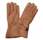 Brown Biker Gloves with Rain Shield