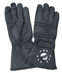 Biker Gloves Padded with Rain Shield & Concho