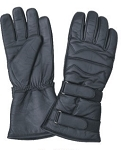 Padded Leather Gloves with Two Adjustable Tabs