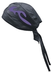Skull Cap with Purple Flames