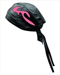 Skull Cap with Pink Flames
