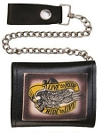 Live to Ride Ride to Live Chain Wallet