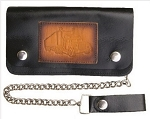 Truckers 8 Inch Chain Wallet with Semi Truck