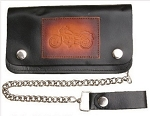 Biker 8 Inch Chain Wallet with Motorcycle Logo