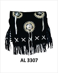 Ladies Handbag with Bones, Fringe, 3 Conchos